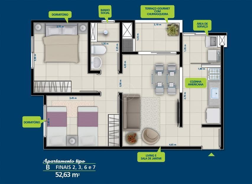 FOTO4 - Apartamento 2 quartos à venda Itatiba,SP - R$ 255.000 - AP0353 - 6