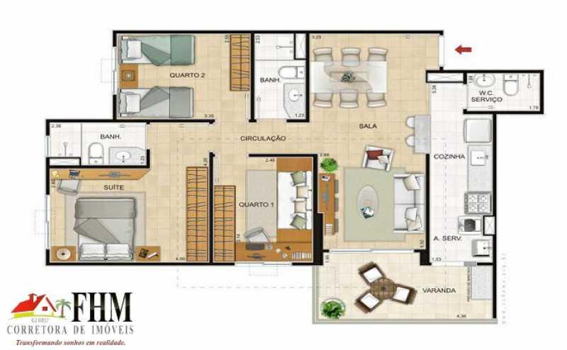 0_IMG-20210817-WA0113_watermar - Apartamento à venda Avenida Tim Maia,Recreio dos Bandeirantes, Rio de Janeiro - R$ 530.000 - FHM3111 - 25