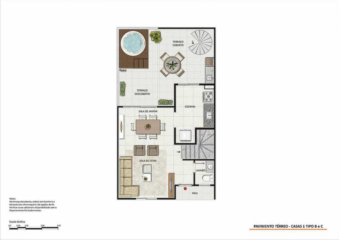 PAV TÉRREO CASAS 1 TIPO B E C - Fachada - Magic Garden Houses - 148 - 23