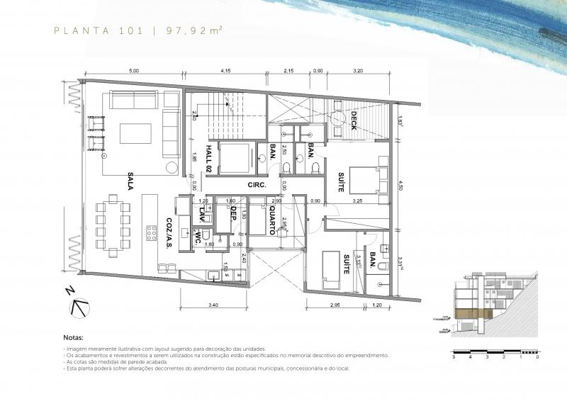 ROCCA - PLANTA APTO 101 - Fachada - Rocca - 225 - 17