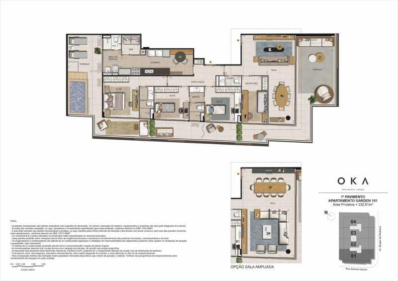 1º PAVIMENTO GARDEM 101 - Fachada - OKA Residence Lagoa - 252 - 20
