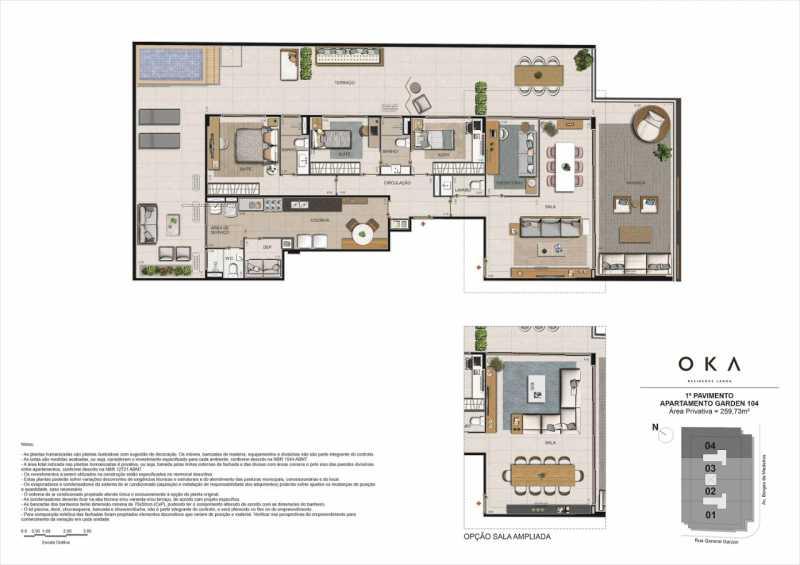 1º PAVIMENTO GARDEN 104 - Fachada - OKA Residence Lagoa - 252 - 21