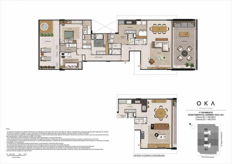 1º PAVIMENTO GARDEN 102 E 103 - Fachada - OKA Residence Lagoa - 252 - 22