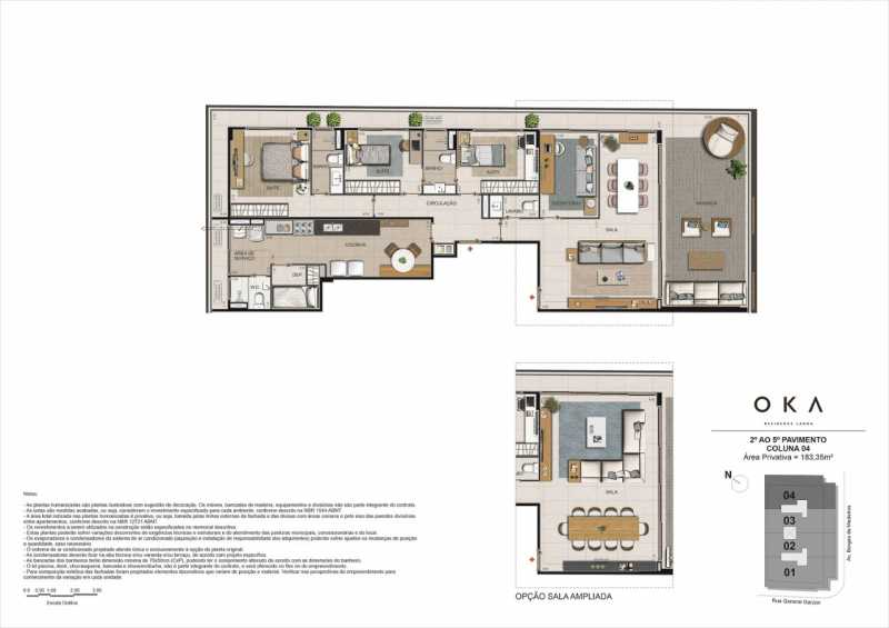 2º AO 5º PAVIMENTO COLUNA 04 - Fachada - OKA Residence Lagoa - 252 - 25