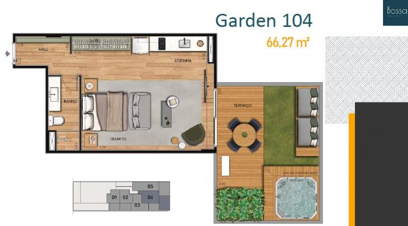 Planta garden 104 - Fachada - Bossa 107 - 262 - 12