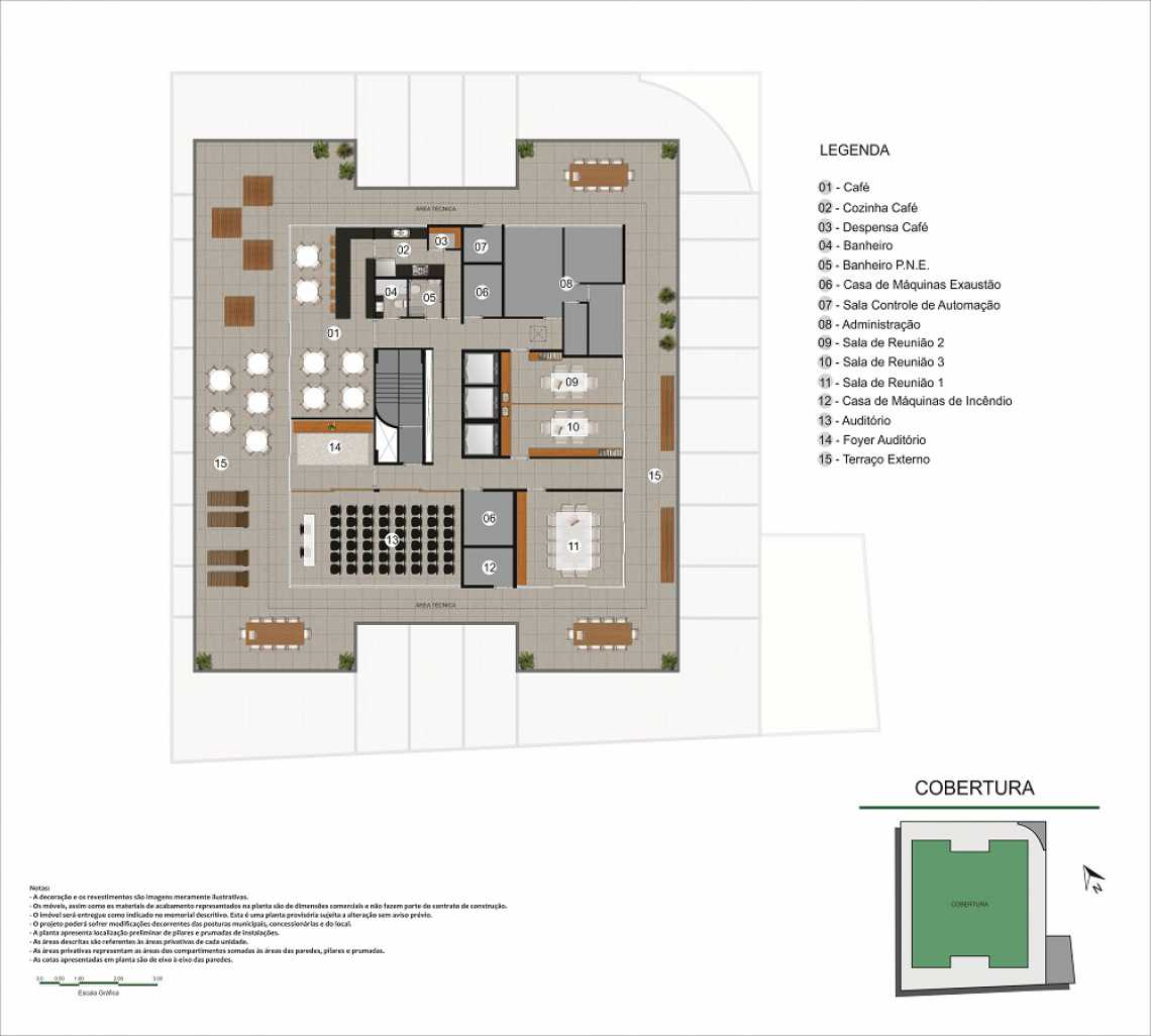 PLANTA COBERTURA - Fachada - Pulse Offices - 55 - 21
