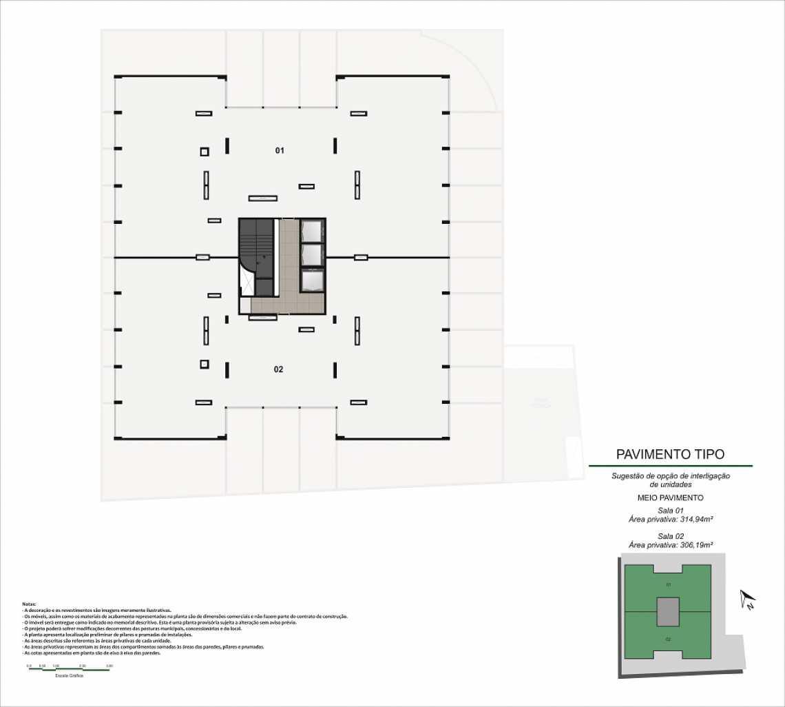 JUNÇÃO MEIO PAVIMENTO - Fachada - Pulse Offices - 55 - 18