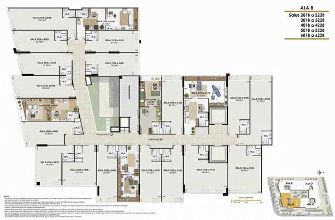 PLANTA ALA B - Fachada - One Offices - 70 - 18