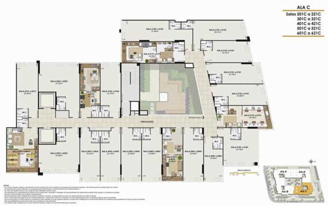 PLANTA ALA C - Fachada - One Offices - 70 - 19