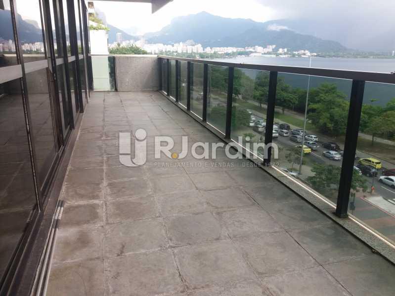 Varanda frontal - Apartamento à venda Avenida Epitácio Pessoa,Lagoa, Zona Sul,Rio de Janeiro - R$ 5.500.000 - AP1037 - 8