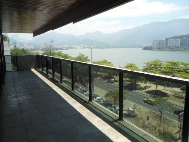 Varanda - Apartamento à venda Avenida Epitácio Pessoa,Lagoa, Zona Sul,Rio de Janeiro - R$ 5.500.000 - AP1037 - 25