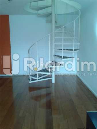 sala escada - Compra Venda Avaliação Imóveis Cobertura Lagoa 3 Quartos - CO0177 - 6