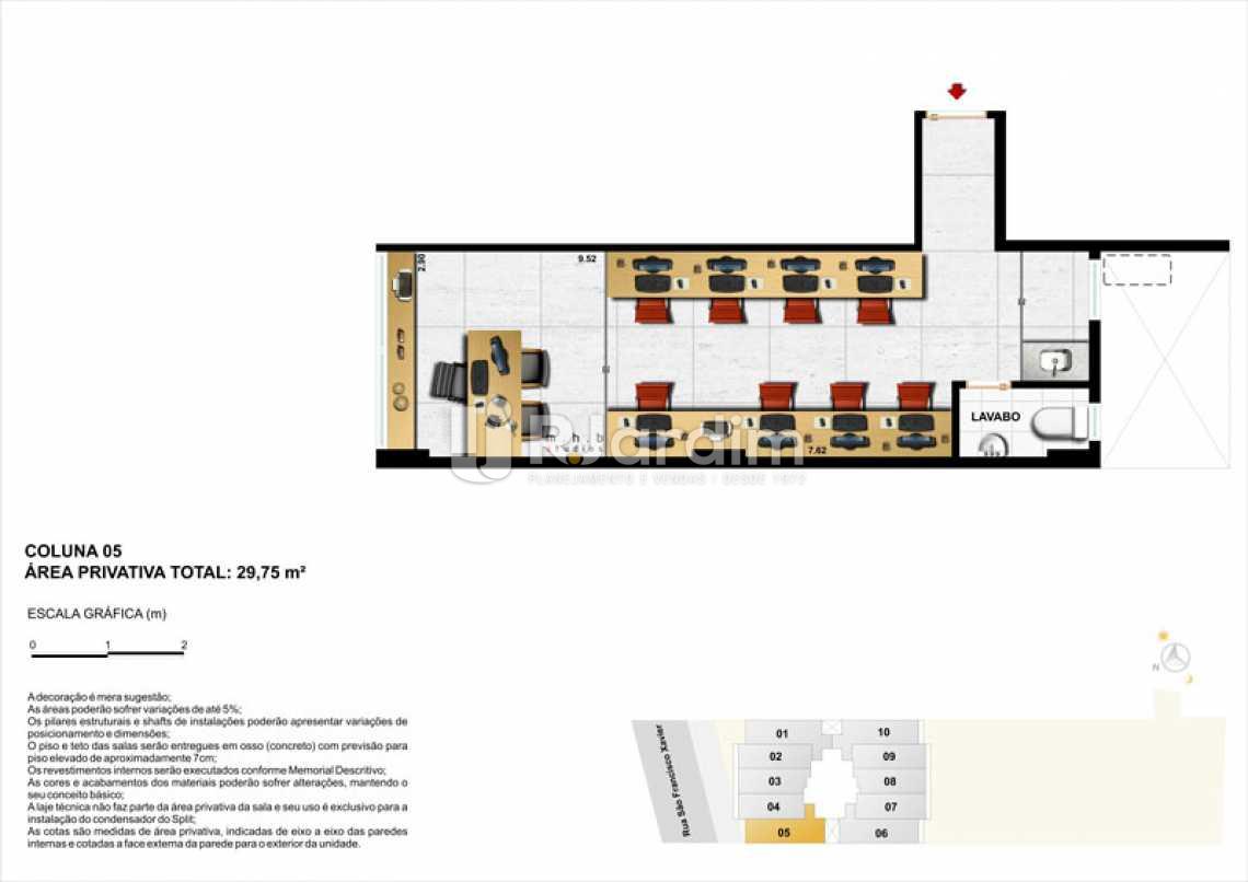 COLUNA 05 - Sala Comercial 30m² à venda Tijuca, Zona Norte - Grande Tijuca,Rio de Janeiro - R$ 343.500 - LASL00004 - 15