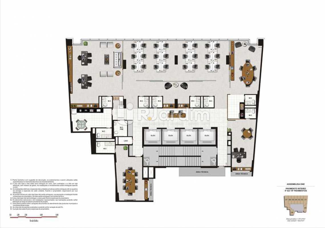 PAVIMENTO CORRIDO - Lançamento Assembleia One Imóveis Compra e Venda Imóveis Comerciais Zona Centro Salas E Andares - LASL00035 - 11