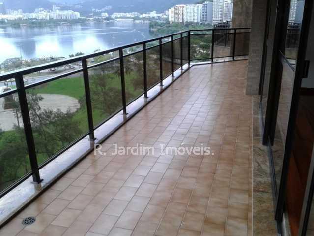 Varanda - Apartamento Lagoa 3 Quartos Aluguel Administração Imóveis - LAAP30353 - 1
