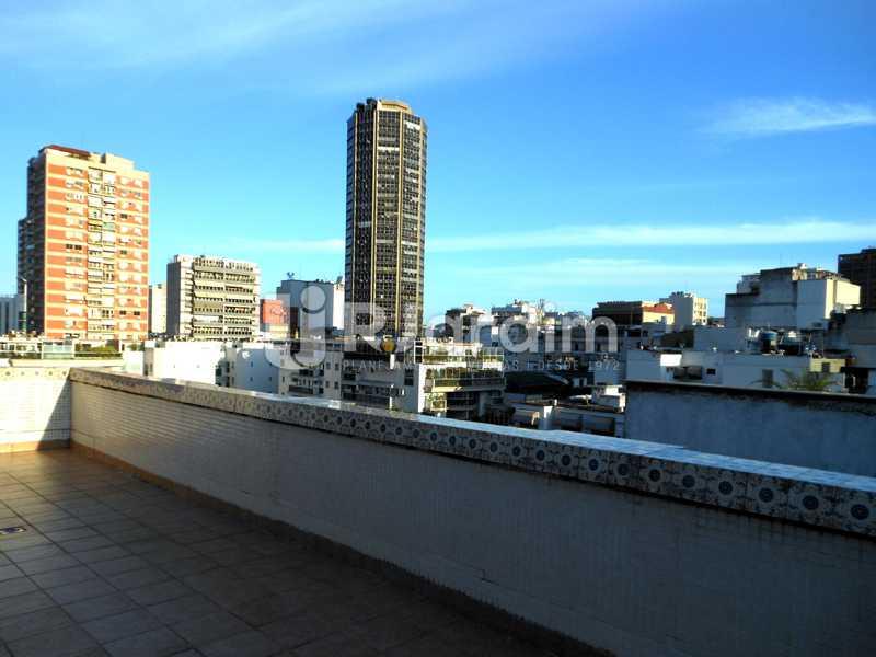 19 - Vista do terraço - Cobertura Leblon, Zona Sul,Rio de Janeiro, RJ À Venda, 3 Quartos, 192m² - LACO30082 - 21