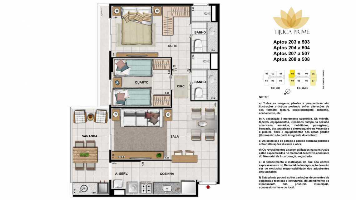 203 A 503.204 A 504.207 A 507. - Apartamento Maracanã, Zona Norte - Grande Tijuca,Rio de Janeiro, RJ À Venda, 2 Quartos, 62m² - LAAP20459 - 16