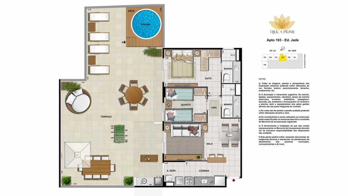 PLANTA 103 ED JADE - Apartamento Maracanã, Zona Norte - Grande Tijuca,Rio de Janeiro, RJ À Venda, 2 Quartos, 62m² - LAAP20459 - 20