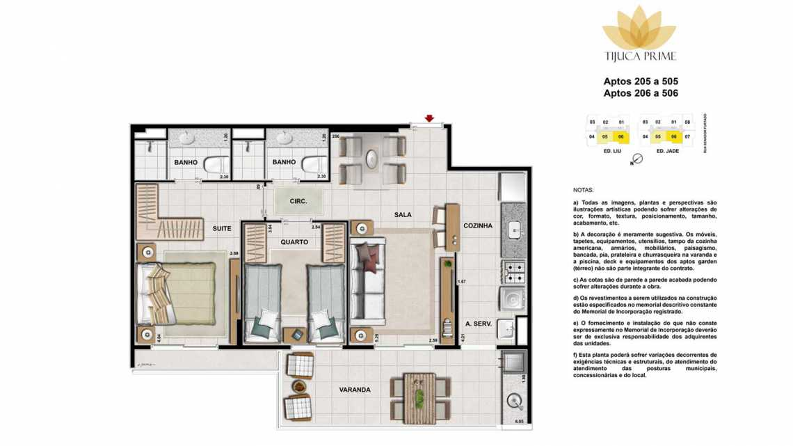 PLANTAS 205 A 505 E 206 A 506 - Apartamento Maracanã, Zona Norte - Grande Tijuca,Rio de Janeiro, RJ À Venda, 2 Quartos, 70m² - LAAP20460 - 17