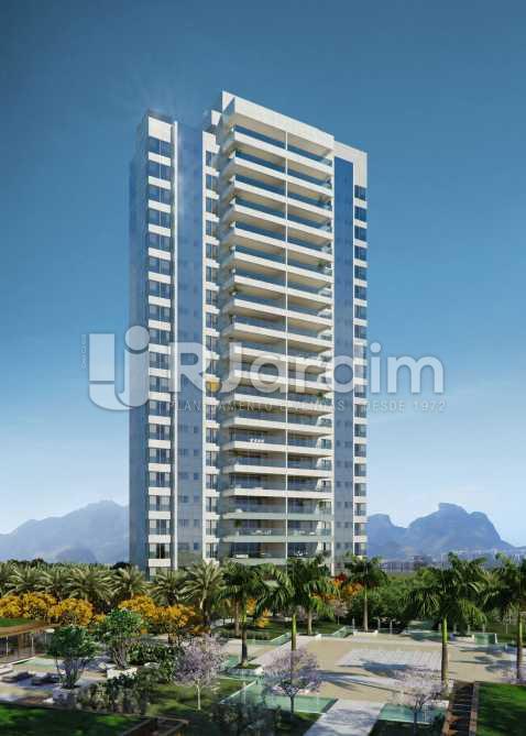 FACHADA ED LAGUNA - Apartamento À VENDA, Barra da Tijuca, Rio de Janeiro, RJ - LAAP50020 - 6
