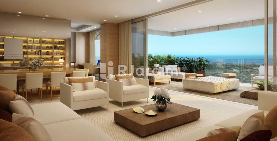 LIVING DA UNID 802 ED. LAGUNA - Apartamento À VENDA, Barra da Tijuca, Rio de Janeiro, RJ - LAAP50020 - 15