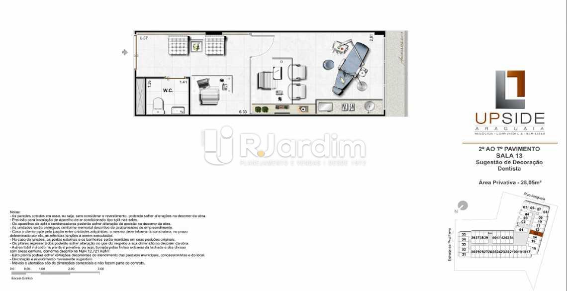 PLANTA-SALA-13-DENTISTA - Sala Comercial Freguesia (Jacarepaguá), Zona Oeste - Barra e Adjacentes,Rio de Janeiro, RJ À Venda, 53m² - LASL00073 - 23