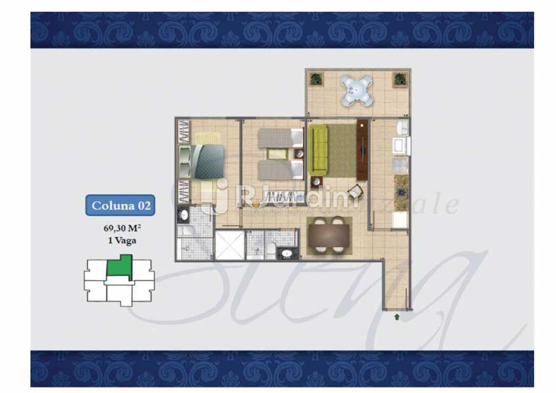 PLANTA COL 2 69,30M² - Apartamento Méier,Rio de Janeiro,RJ À Venda,2 Quartos,61m² - LAAP20552 - 18