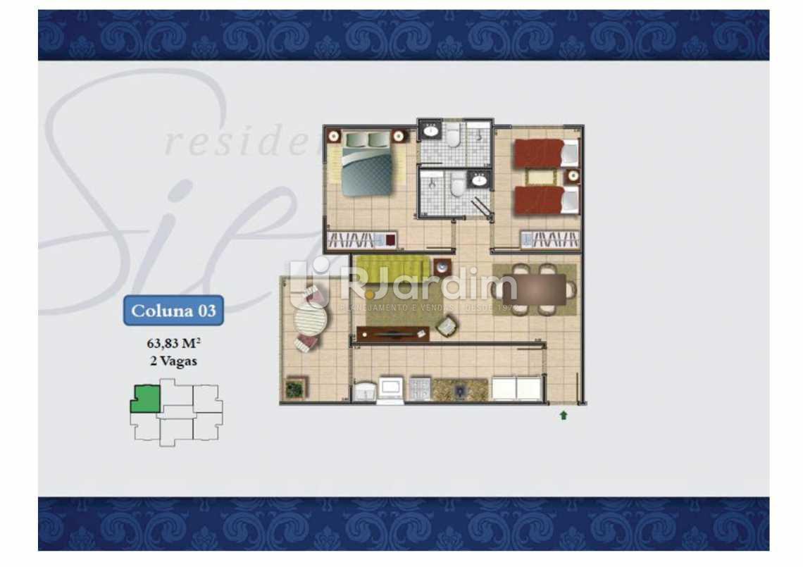 PLANTA COL 3 63,83M² - Apartamento Méier,Rio de Janeiro,RJ À Venda,2 Quartos,61m² - LAAP20552 - 19