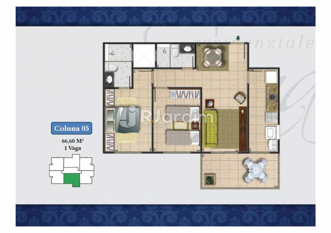 PLANTA COL 5 66,60M² - Apartamento Méier,Rio de Janeiro,RJ À Venda,2 Quartos,61m² - LAAP20552 - 22