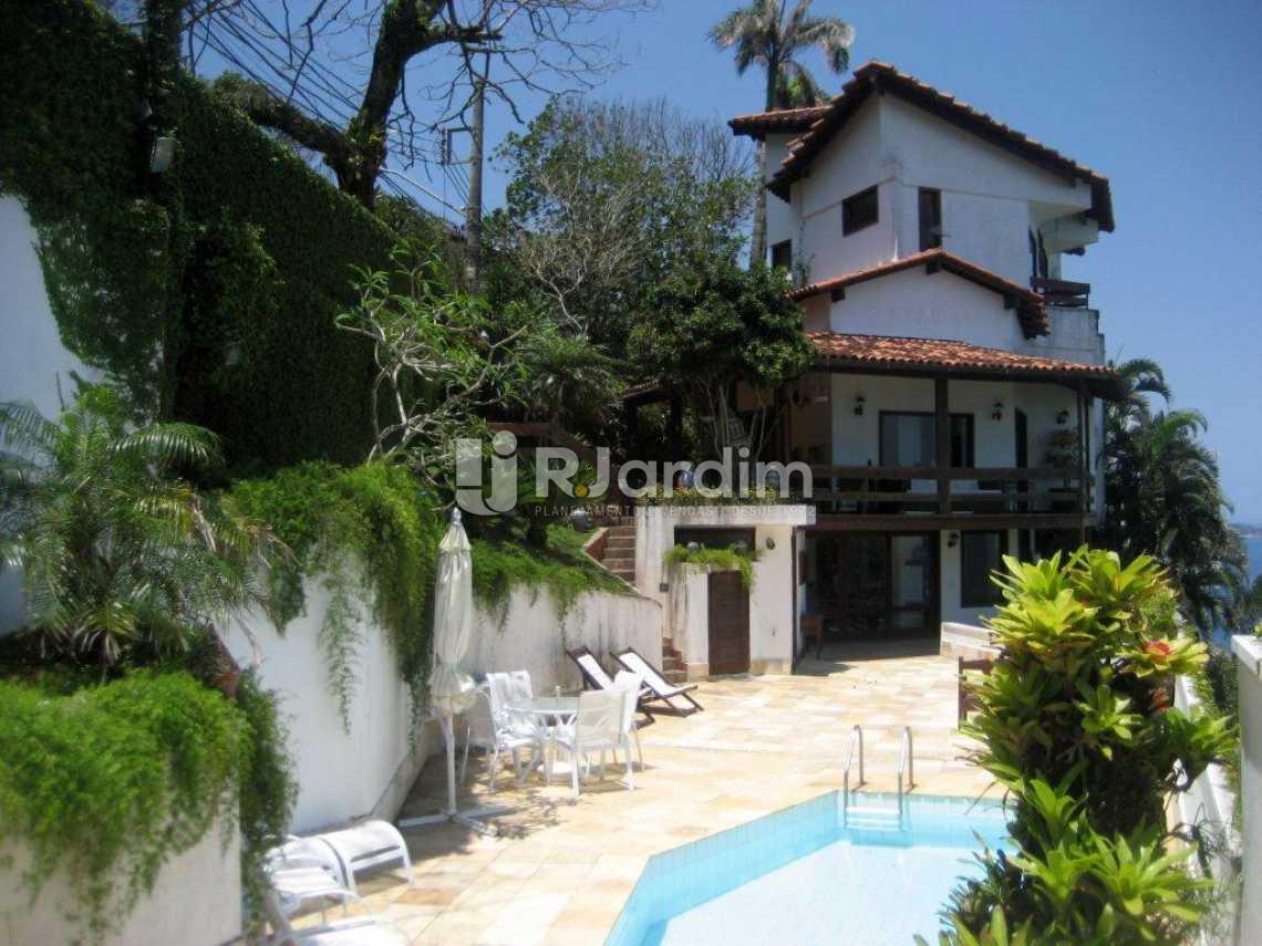 vista da piscina - Casa em Condominio À VENDA, São Conrado, Rio de Janeiro, RJ - LACN50004 - 3
