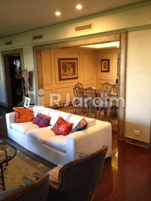 living - Apartamento à venda Avenida Borges de Medeiros,Leblon, Zona Sul,Rio de Janeiro - R$ 7.500.000 - LAAP40353 - 1