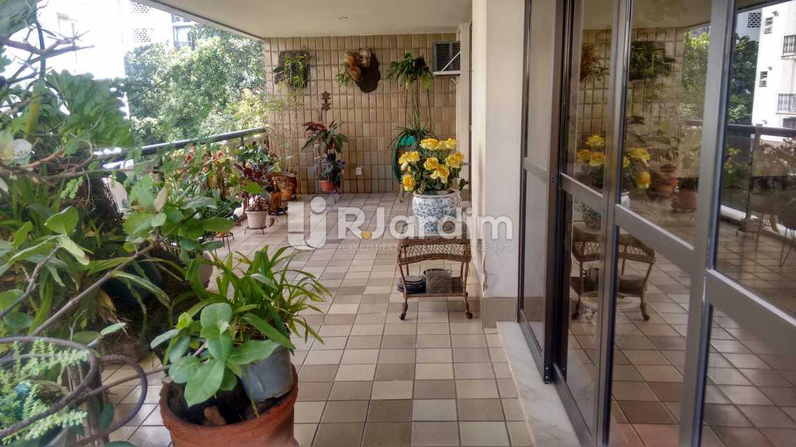 Varanda - Apartamento À VENDA, Lagoa, Rio de Janeiro, RJ - LAAP40356 - 4