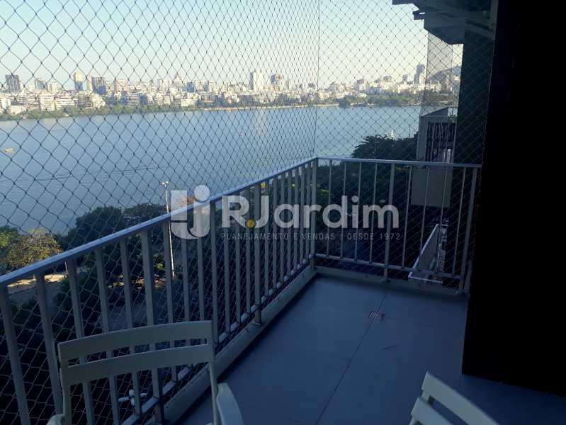 vista / varanda  - Compra Venda Avaliação Imóveis Apartamento Lagoa 3 Quartos - LAAP30831 - 3