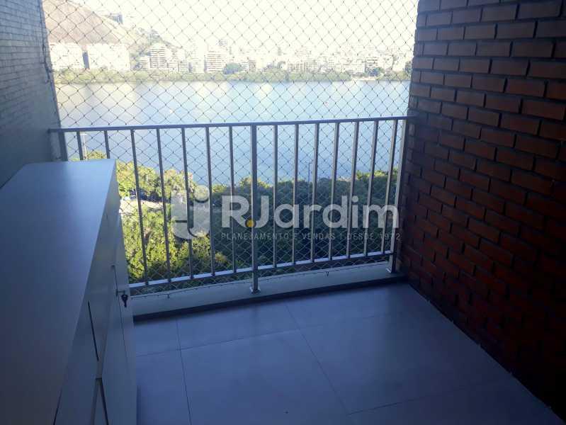 varanda / Suite Master - Compra Venda Avaliação Imóveis Apartamento Lagoa 3 Quartos - LAAP30831 - 18