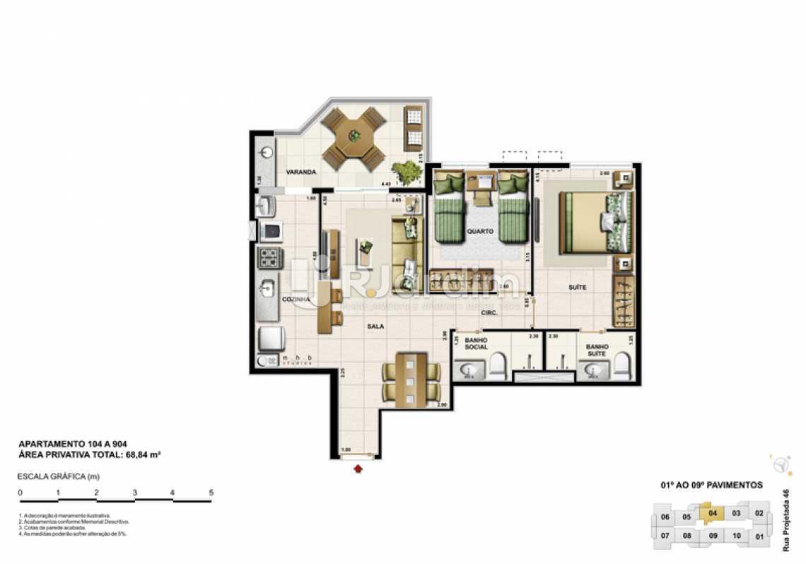 APARTAMENTO 104 - Barra Wave, Apartamento, Padrão, Residencial, Barra da Tijuca, Zona Oeste, Rio de Janeiro RJ - LAAP30835 - 12