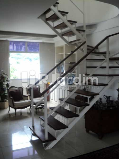 Acesso Terraço  - Apartamento À VENDA, Jardim Botânico, Rio de Janeiro, RJ - LAAP50027 - 6