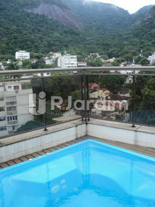 Terraço  - Apartamento à venda Rua Corcovado,Jardim Botânico, Zona Sul,Rio de Janeiro - R$ 4.400.000 - LAAP50027 - 12