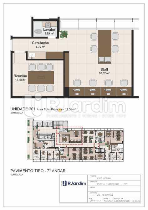 CL - 7o pavimento - Planta hum - Loja Leblon, Zona Sul,Rio de Janeiro, RJ À Venda, 1108m² - LALJ00054 - 22