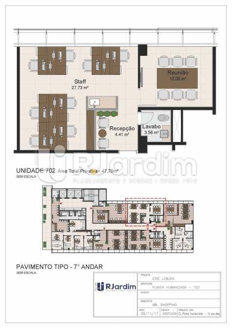 CL - 7o pavimento - Planta hum - Loja Leblon, Zona Sul,Rio de Janeiro, RJ À Venda, 1108m² - LALJ00054 - 23