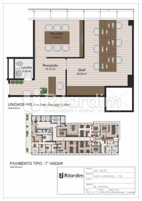 CL - 7o pavimento - Planta hum - Loja Leblon, Zona Sul,Rio de Janeiro, RJ À Venda, 1108m² - LALJ00054 - 24