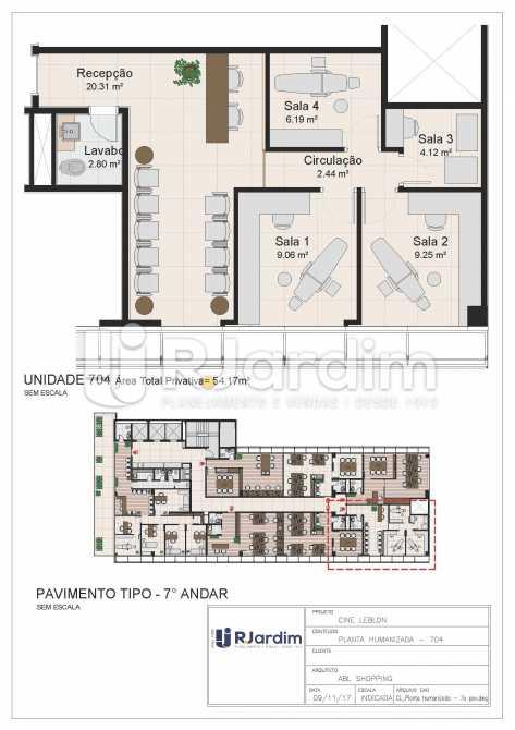 CL - 7o pavimento - Planta hum - Loja Leblon, Zona Sul,Rio de Janeiro, RJ À Venda, 1108m² - LALJ00054 - 25