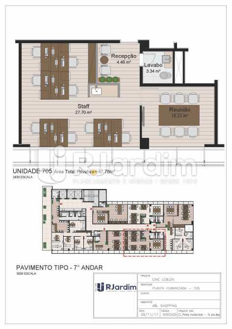 CL - 7o pavimento - Planta hum - Loja Leblon, Zona Sul,Rio de Janeiro, RJ À Venda, 1108m² - LALJ00054 - 26