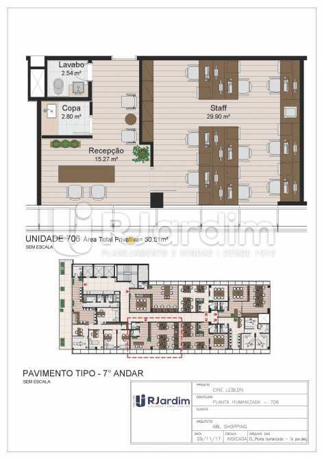 CL - 7o pavimento - Planta hum - Loja Leblon, Zona Sul,Rio de Janeiro, RJ À Venda, 1108m² - LALJ00054 - 27