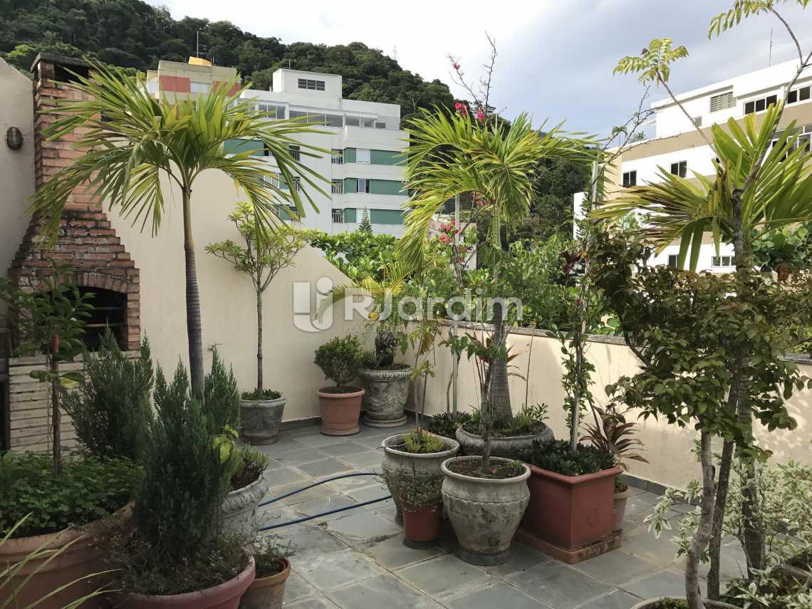 terraço / vista livre  - Cobertura Rua das Acácias,Gávea, Zona Sul,Rio de Janeiro, RJ À Venda, 4 Quartos, 224m² - LACO40076 - 1