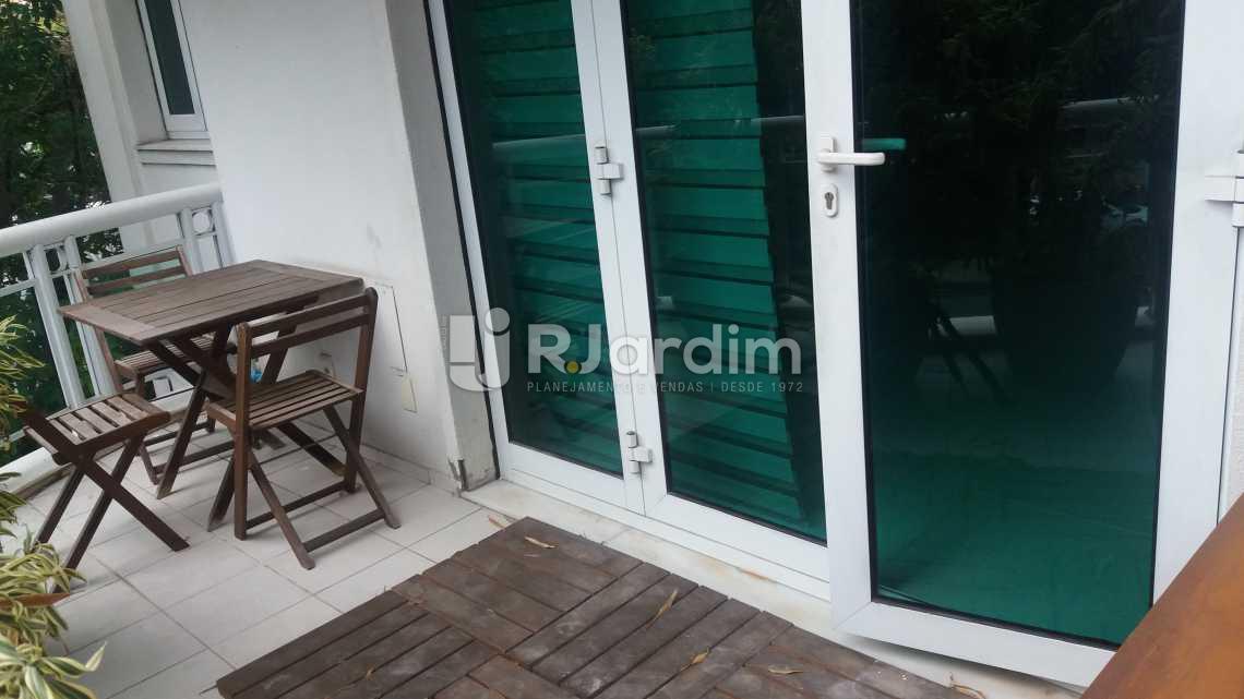 Varanda 1ºpiso - Apartamento À VENDA, Leblon, Rio de Janeiro, RJ - LAAP20704 - 4