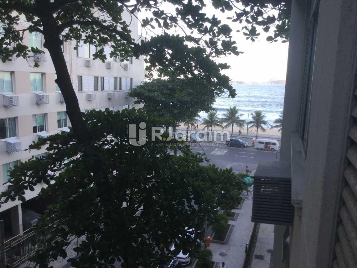 vista da sala - Apartamento À VENDA, Leblon, Rio de Janeiro, RJ - LAAP20726 - 1
