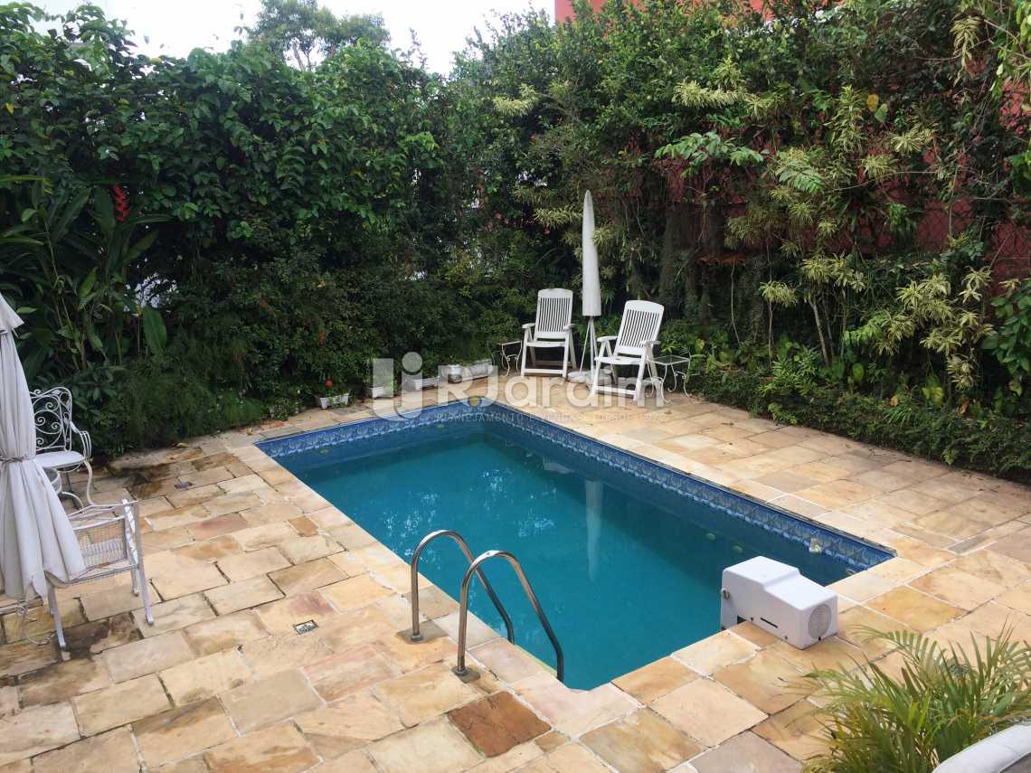 piscina - Casa Rua Senador Simonsen,Jardim Botânico, Zona Sul,Rio de Janeiro, RJ À Venda, 6 Quartos, 419m² - LACA60007 - 5