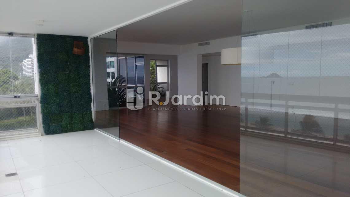Varanda/ salão  - Imóveis Aluguel Apartamento São Conrado 4 Quartos - LAAP40456 - 13