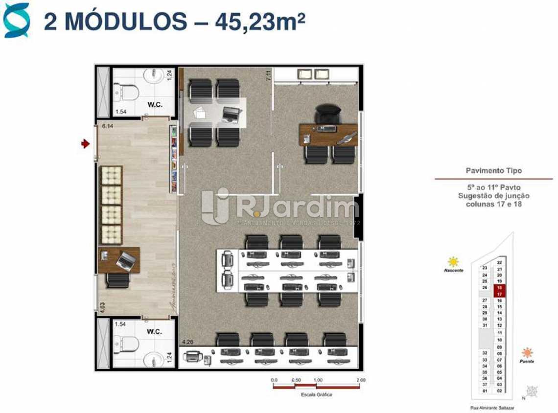 Planta 5 - Lançamento Quinta Park Imóveis Compra e Venda Imóveis Comerciais Zona Norte Salas E Andares - LASL00102 - 13