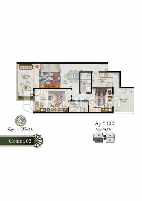 COLUNA 02 - 102 - Cobertura 2 quartos à venda Tijuca, Zona Norte - Grande Tijuca,Rio de Janeiro - R$ 1.090.000 - LACO20054 - 3